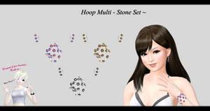 [MMD] Hoop Multi - Stone Set DL ~