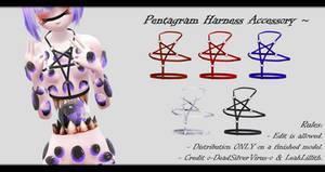 [MMD] Pentagram Harness Accessory DL ~