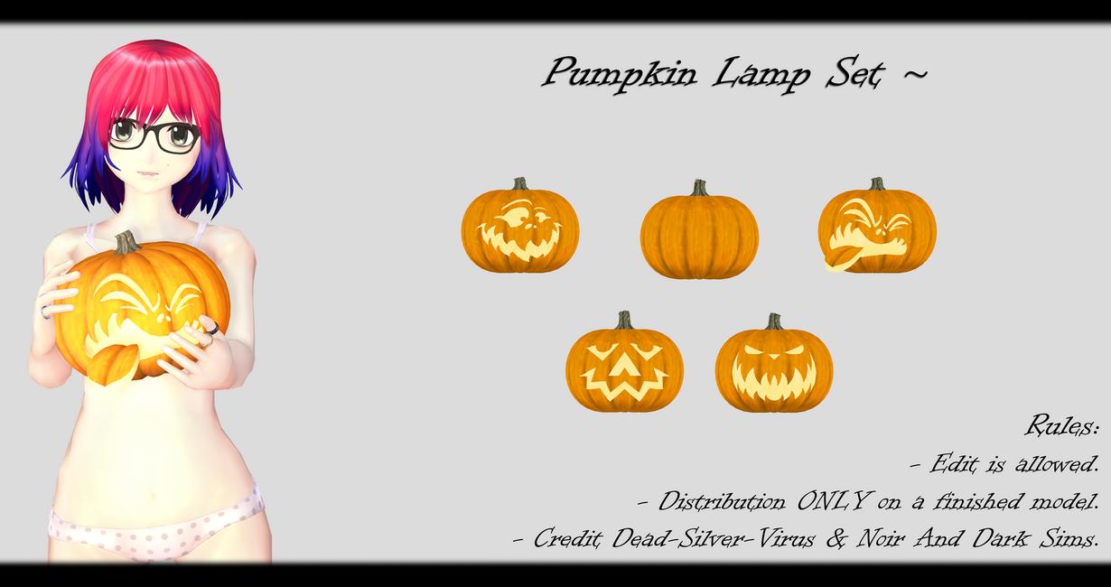 [MMD] Pumpkin Lamp Set DL ~ by o-DeadSilverVirus-o