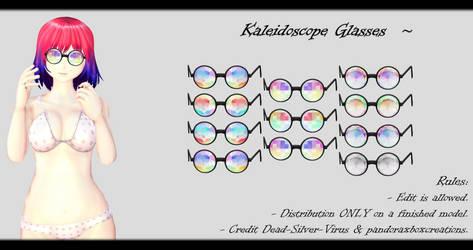 [MMD] Kaleidoscope Glasses DL ~ by o-DSV-o