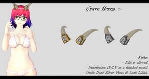 [MMD] Crave Horns DL ~