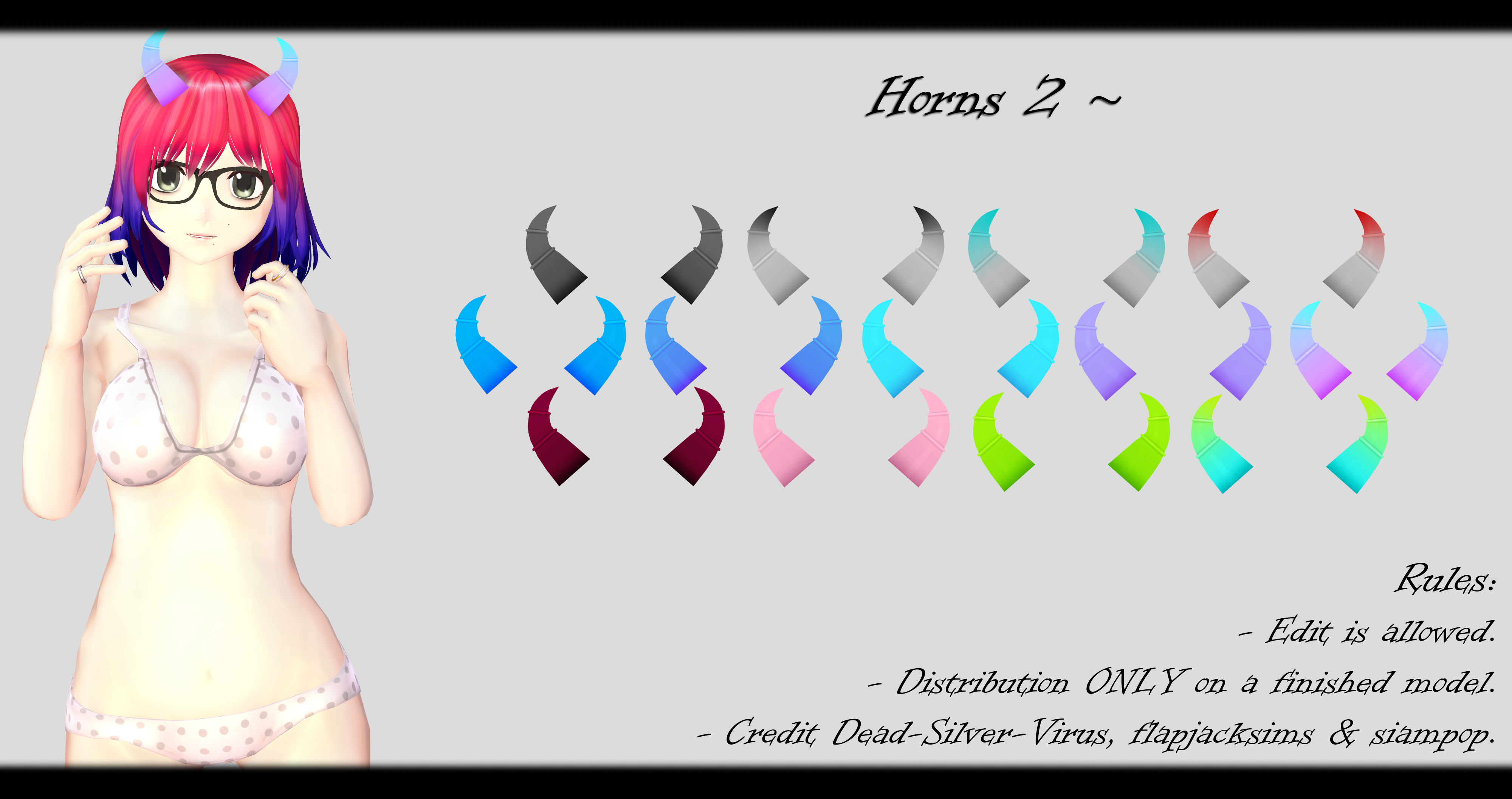 [MMD] Horns 2 DL ~