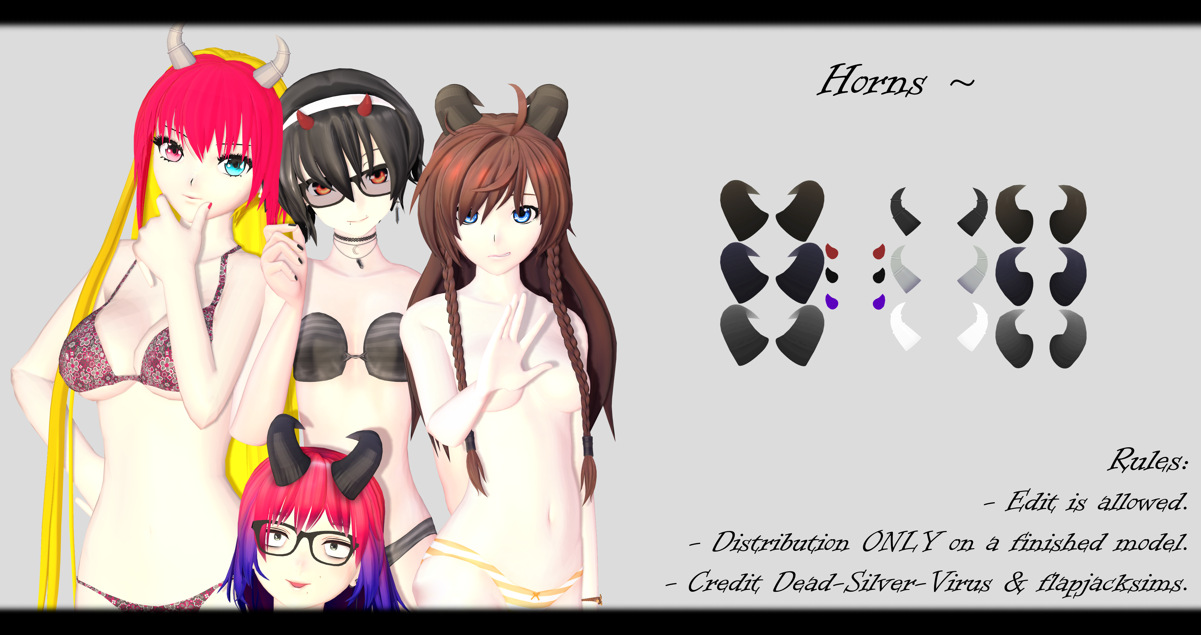 [MMD] Horns DL ~