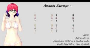 [MMD] Amanda Earrings DL ~ by o-DSV-o