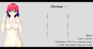 [MMD] Earrings DL ~ by o-DSV-o