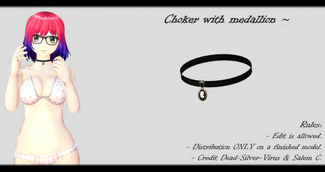 [MMD] Choker with medallion DL ~ by o-DSV-o