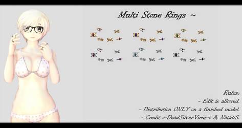 [MMD] Multi Stone Rings DL ~