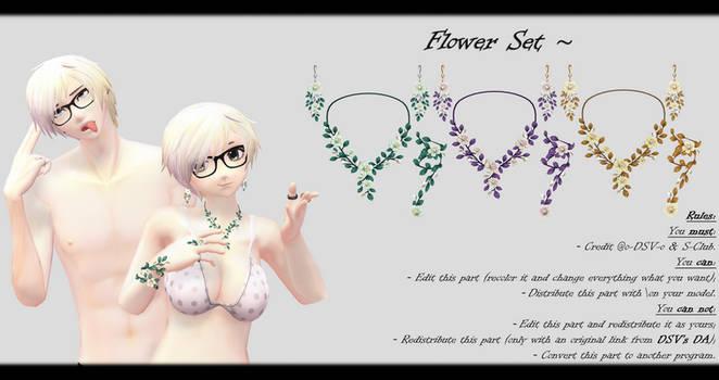 [MMD] Flower Set DL ~ by o-DSV-o