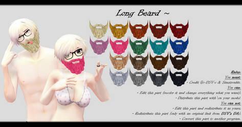 [MMD] Long Beard DL ~ by o-DSV-o