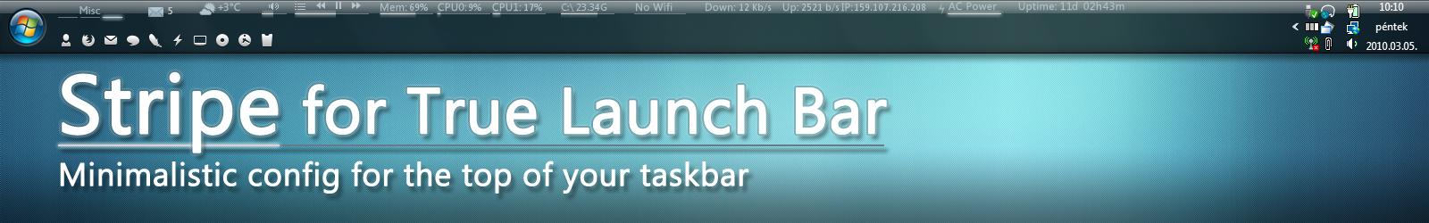 Stripe for True Launch Bar by ethsza