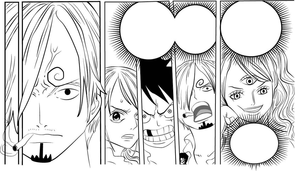 One Piece LINEART 853 Sanji by Fla29