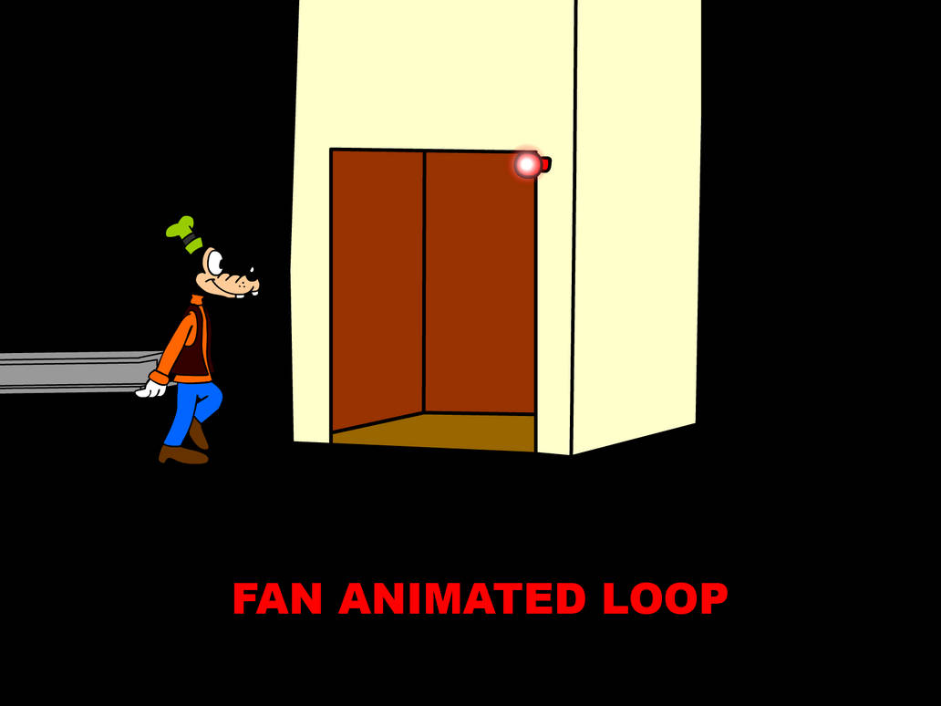 Goofy and the Elevator (Fan Animated Loop) by