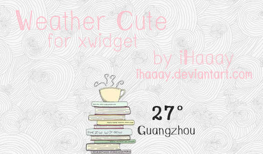 Weather Cute for xwidget by iHaaay