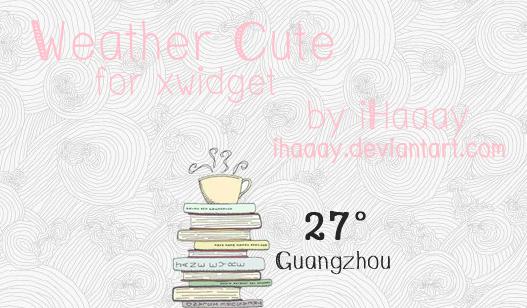 Weather Cute for xwidget by iHaaay
