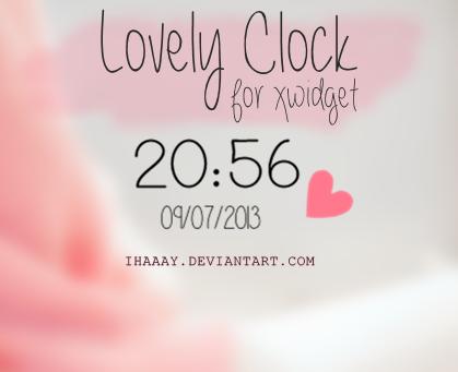 Lovely Clock for xwidget by iHaaay