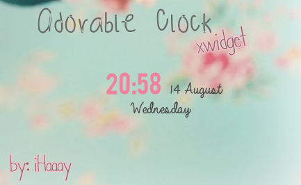 Adorable Clock for xwidget by iHaaay