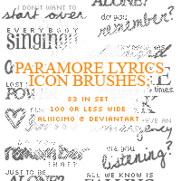 Paramore Lyrics Brushes by aliiicimo