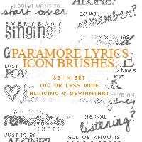 Paramore Lyrics Brushes by aliiicimo