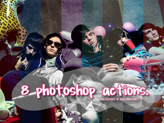8 photoshop actions - set 2 by aliiicimo