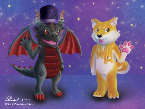 Dragon and Doge Roblox Avatars