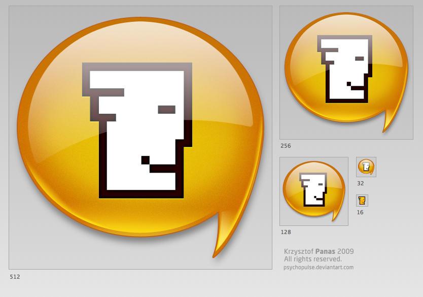 Tlen communicator icon by Psychopulse