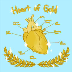 a heartbeat of gold