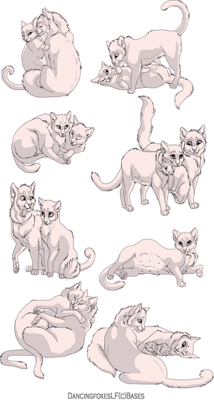 Cat couple linearts 8 pack