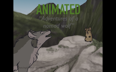 Adventures of a nomad wolf by LittleVulpine