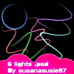 6 luces .psd