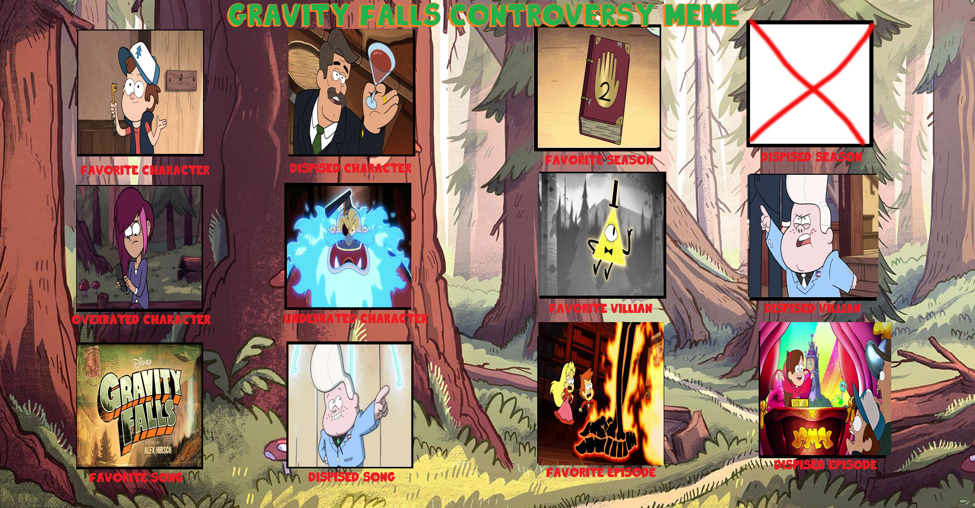 Gravity Falls Controversy Meme- The FireFlamer Way by ...