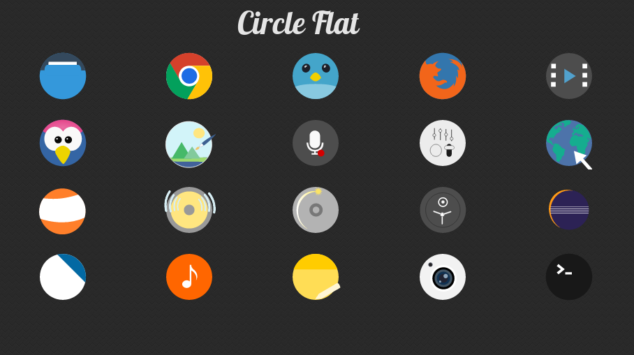 Circle-Flat Icons by ers21