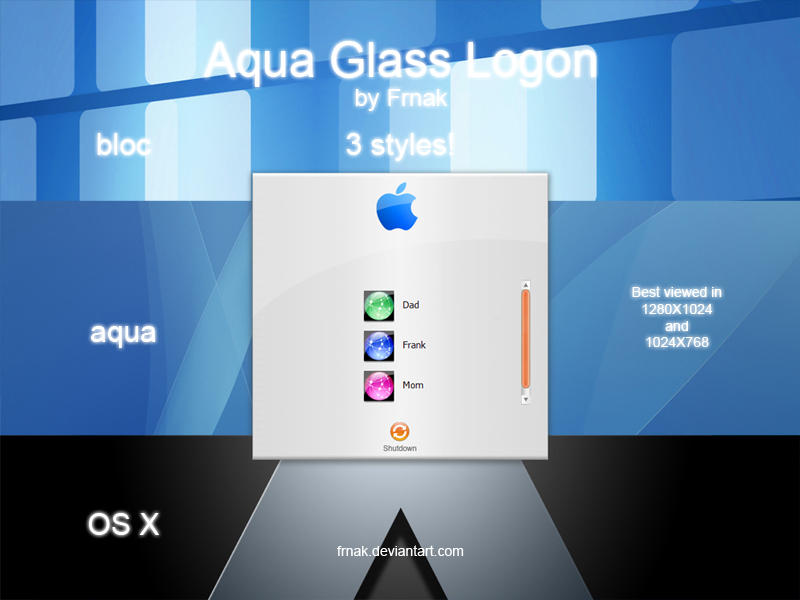 Aqua Glass Logon by Frnak
