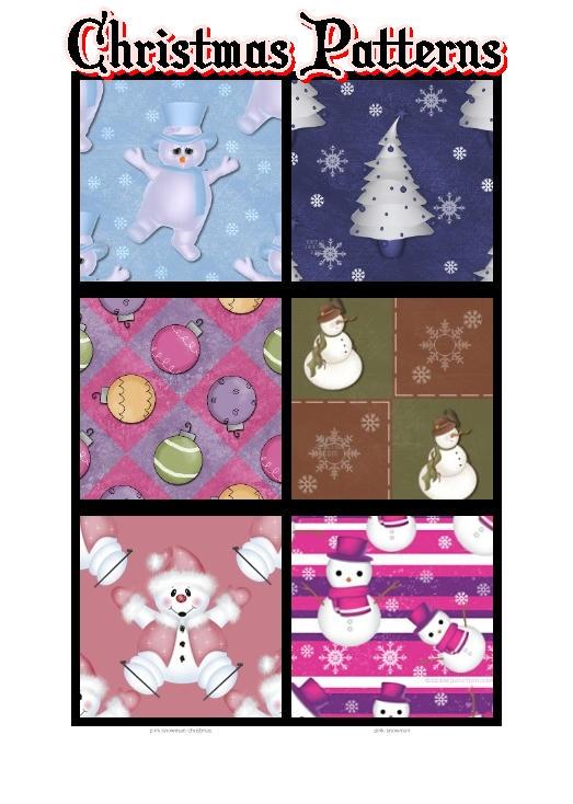 Christmas Patterns by krystalamber2009