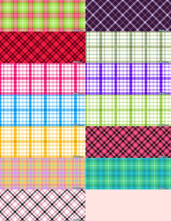 Plaid Pattern Set by krystalamber2009