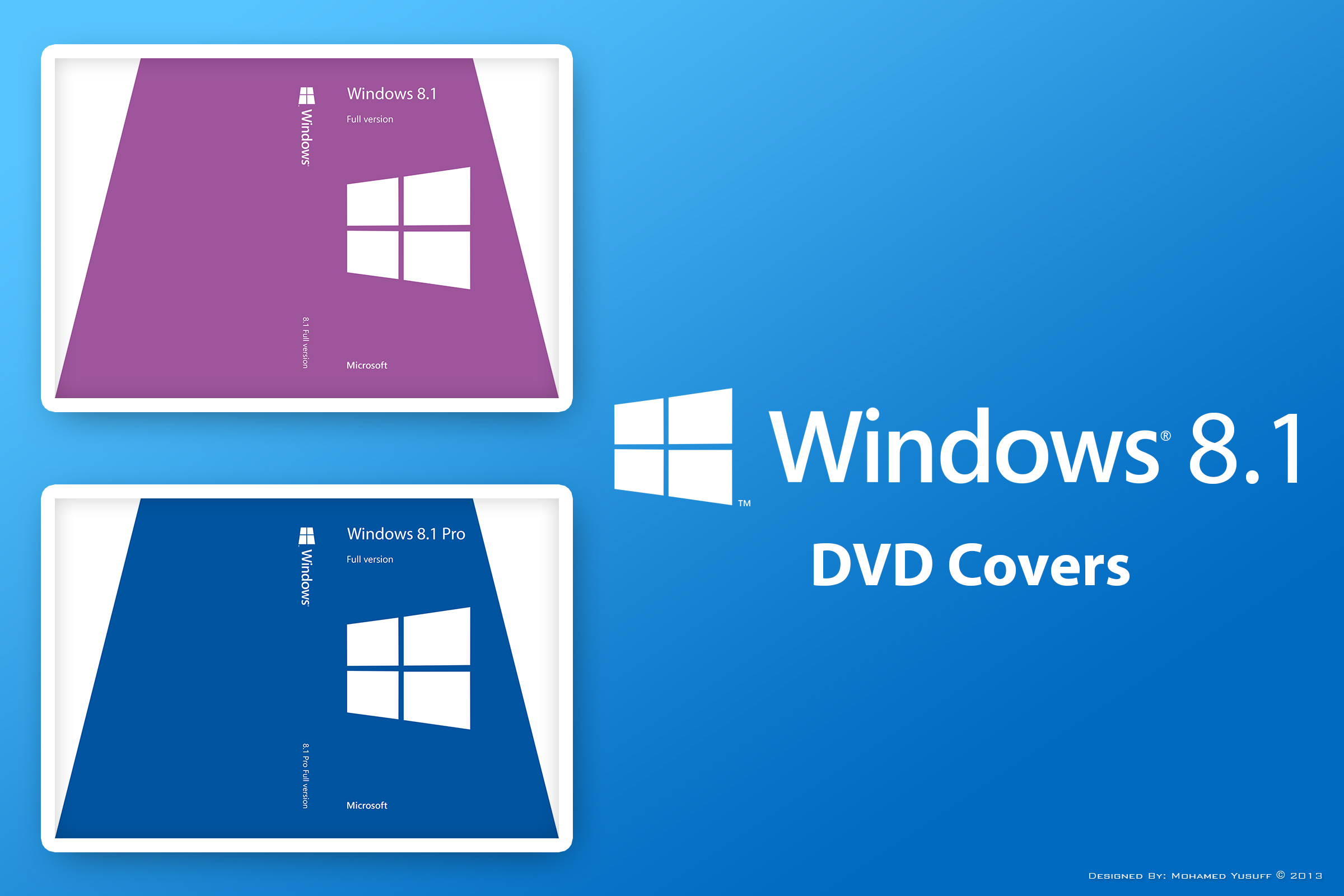 Windows 8.1 DVD Covers v1