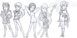 Leather Smash Girls (Sketch)