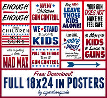 GUN CONTROL SIGNS FOR FREE DOWNLOAD