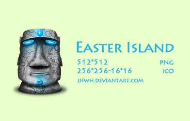 Easter island stone by jjfwh