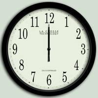 SVG analog clock by Fleshgrinder