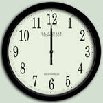 SVG analog clock