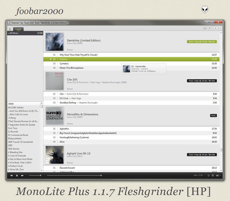 fb2k 1.1.7 Fleshgrinder by Fleshgrinder
