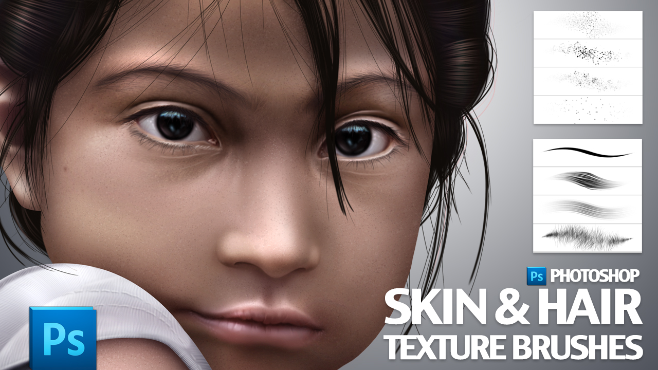 Skin and Hair Texture Brushes