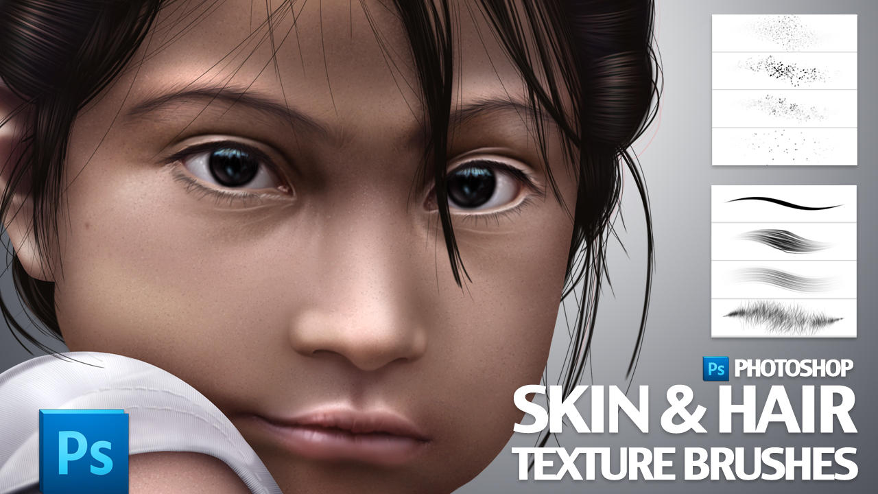 Skin and Hair Texture Brushes by castrochew