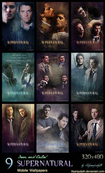 SPN - Dean and Castiel (Mobile Wallpapers)