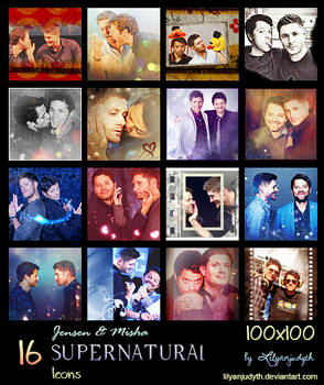 SPN - Jensen and Misha (Icons)