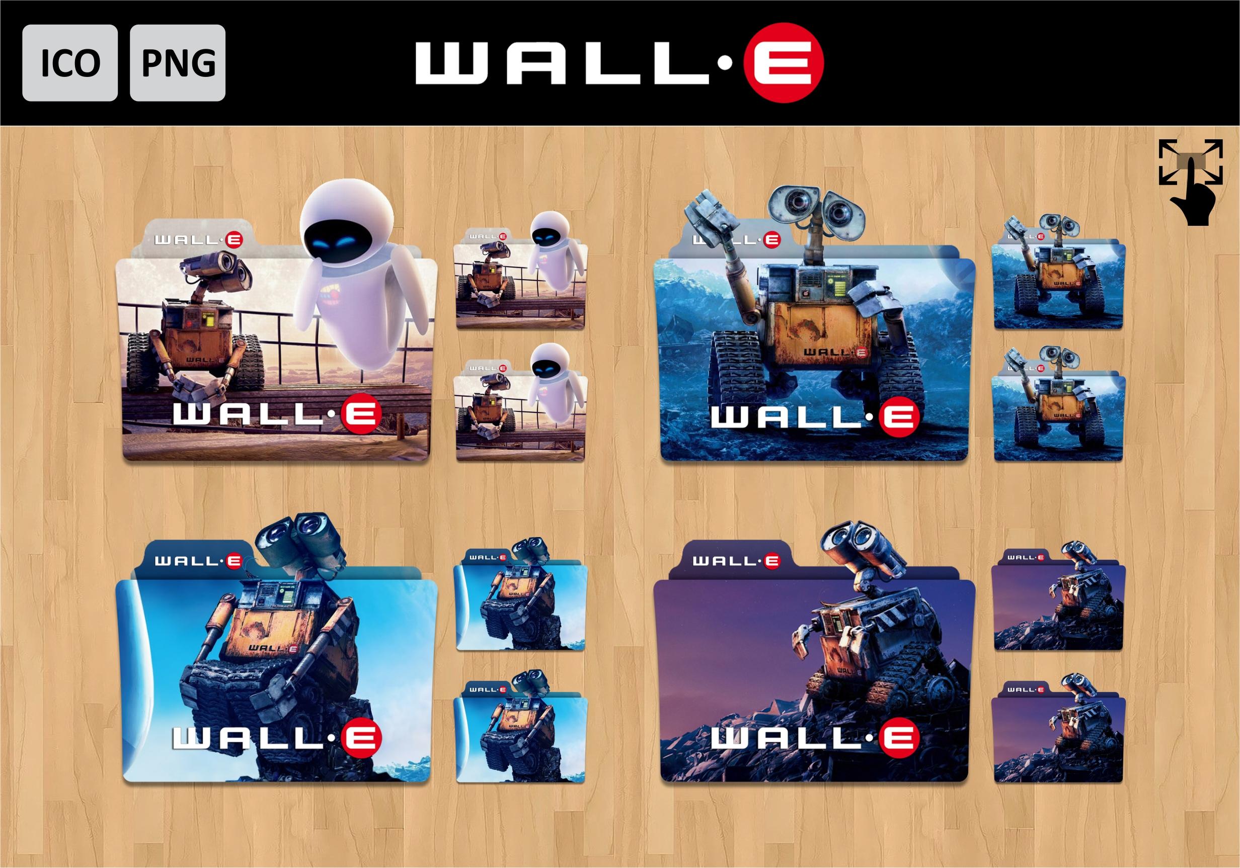 Wall E 2008 Folder Icon Pack By Dianzpurba On Deviantart