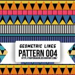 Pattern 004 - Geometric Lines