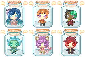 Batch #3 - OC Trapped in a Bottle..! [Pagedoll]