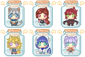 Batch #4 - OC Trapped in a Bottle..! [Pagedoll]