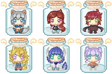 Batch #4 - OC Trapped in a Bottle..! [Pagedoll] by freezingfeathers